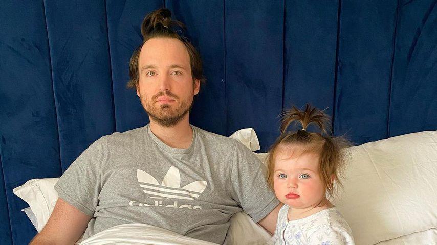 Fraser Carruthers und seine Tochter Ottilie, Mai 2020