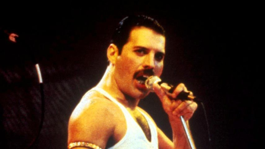 Freddie Mercury beim Live Aid-Konzert 1985