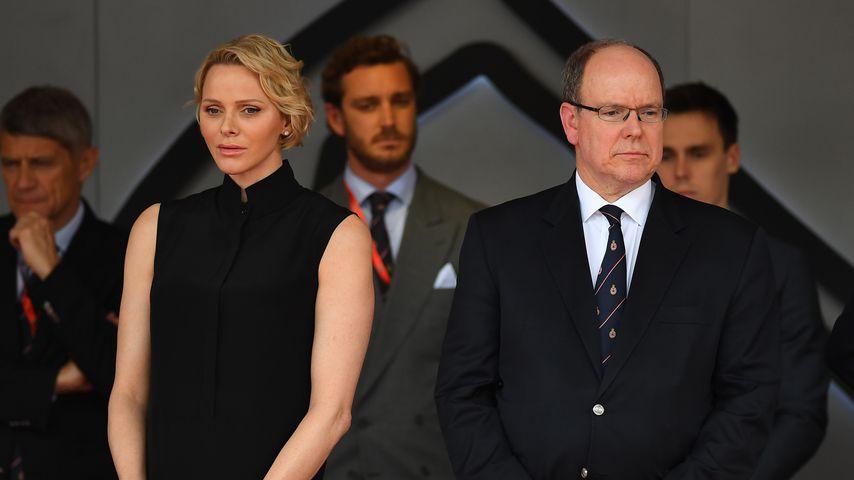 Fürstin Charlène und Prinz Albert beim Formel 1 Grand Prix in Monaco im Mai 2019