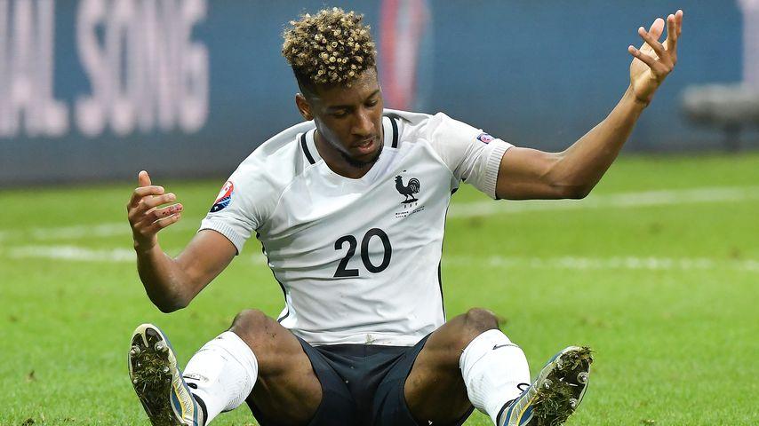 Fußball-Star Kingsley Coman bei der Fussball-EM 2016: Schweiz vs Frankreich