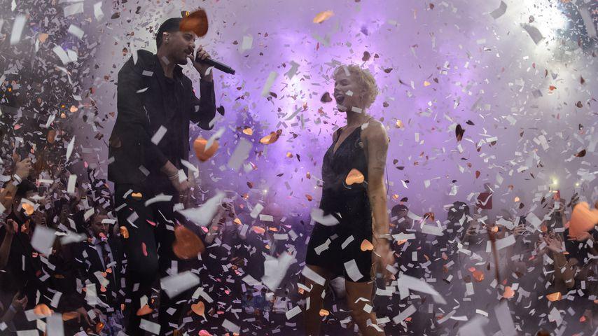 G-Eazy und Halsey bei der Ring in the New Year 2018-Veranstaltung in Miami