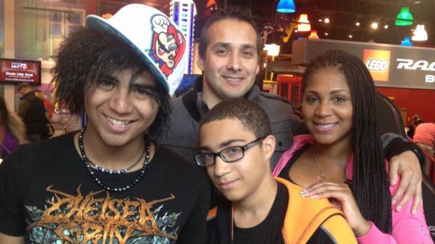 Gabe Solis und Trina Braxton mit ihren Kindern