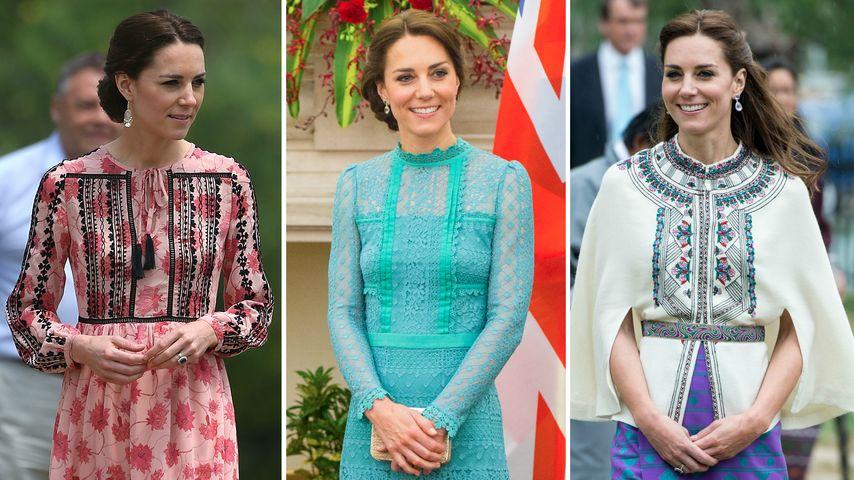 Muster & viele Farben: Herzogin Kates schönste Indien-Looks