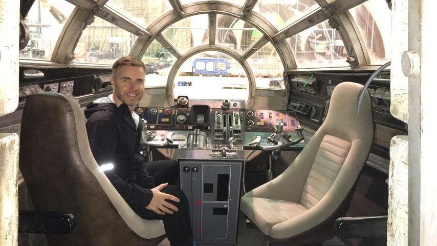 """Gary Barlow am Set von """"Star Wars: The Last Jedi"""""""