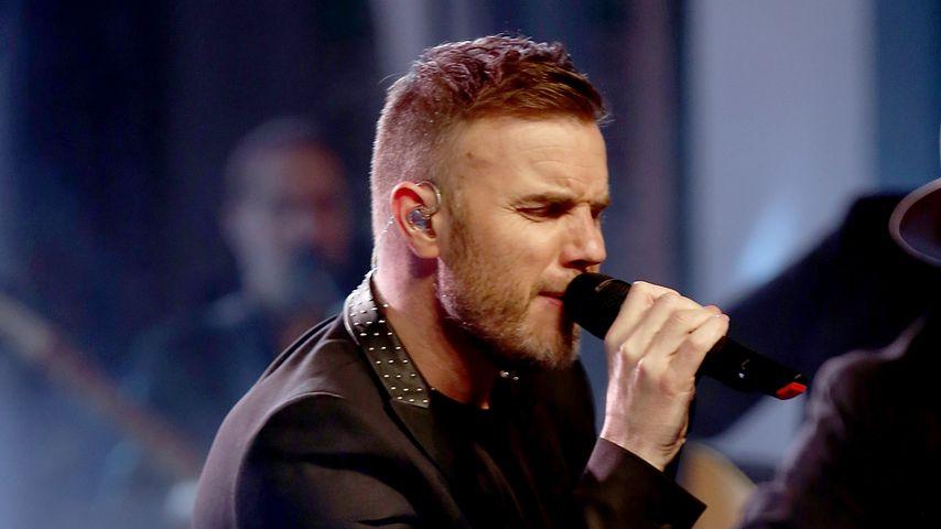 Gary Barlow bei einem Take That-Konzert im April 2015