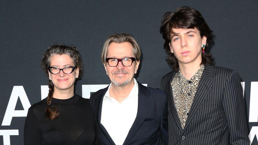 Gary Oldman mit seiner Frau Gisele und seinem Sohn Charlie