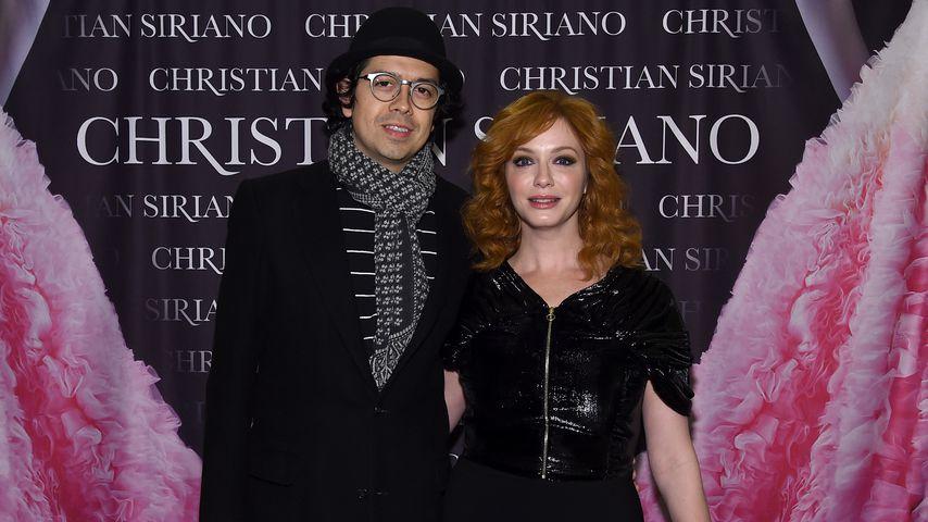 Geoffrey Arend und Christina Hendricks im November 2018 in New York