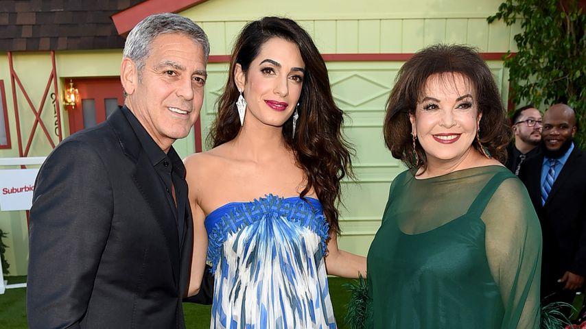 George Clooney mit Ehefrau Amal und Schwiegermutter Baria Alamuddin