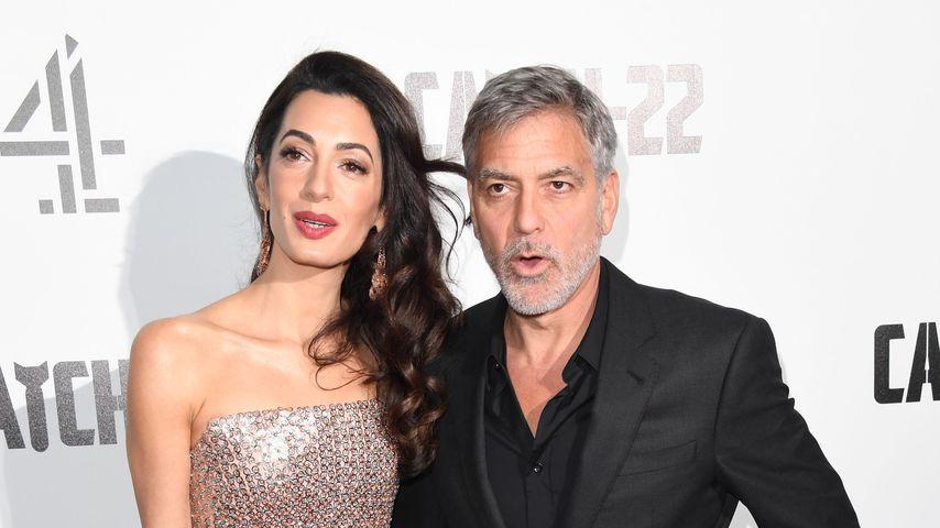 """George und Amal Clooney bei der England-Premiere von """"Catch 22"""""""