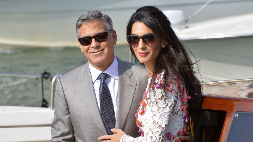 George und Amal Clooney verlassen das Aman Hotel in Venedig