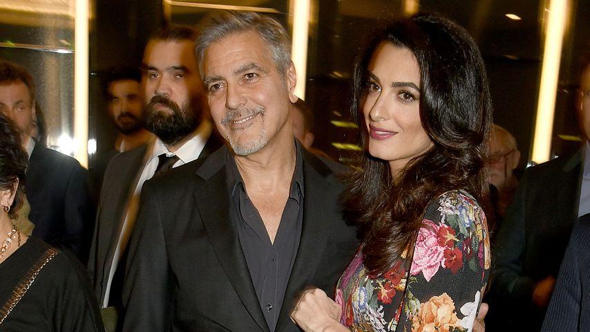 Jetzt wirklich schwanger? Amal Clooney mit Baby-Bäuchlein