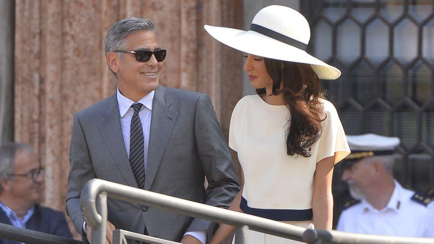 George und Amal Clooney bei ihrer Hochzeit in Venedig