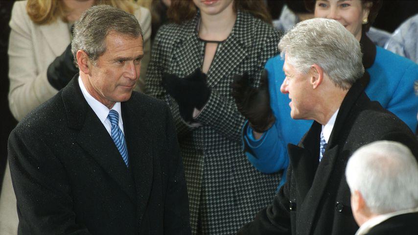 George W. Bush und Bill Clinton, Januar 2001