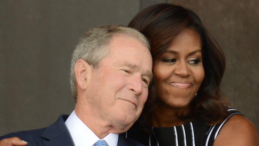 George W. Bush und Michelle Obama in Washington