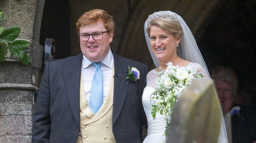 George Woodhouse und Celia McCorquodale an ihrer Hochzeit