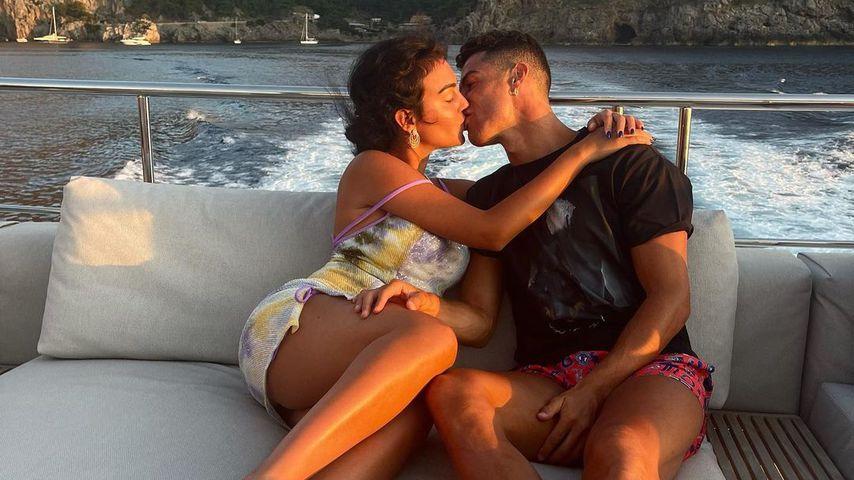 Georgina Rodríguez und Cristiano Ronaldo im Juli 2021