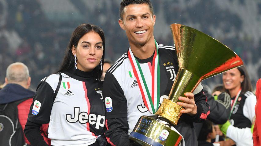 Georgina Rodriguez und Cristiano Ronaldo 2019 in Italien