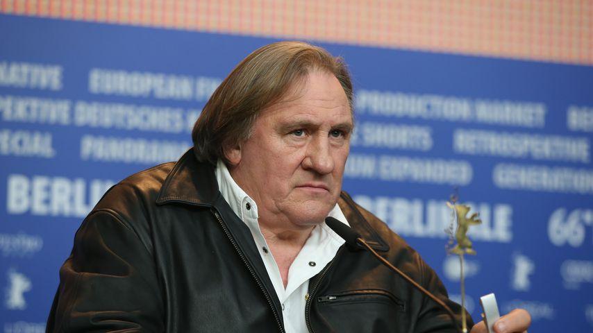 Gérard Depardieu bei einer Pressekonferenz