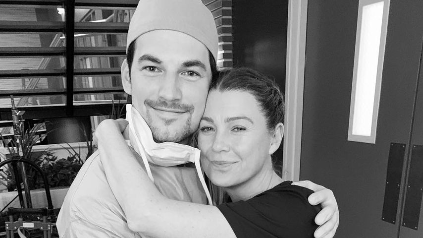 "Giacomo Gianniotti und Ellen Pompeo am ""Grey's Anatomy""-Set"