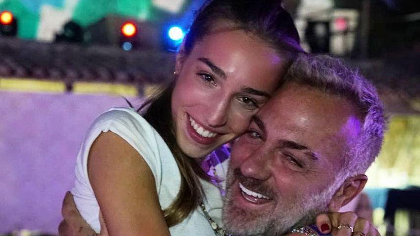 Gianluca Vacchi mit seiner Tochter Ginevra