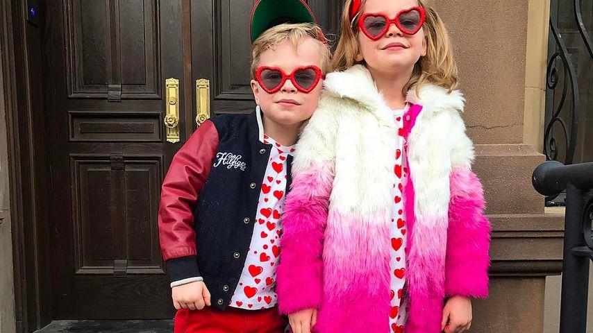 Gideon Scott  und Harper Grace Burtka-Harris am Valentinstag