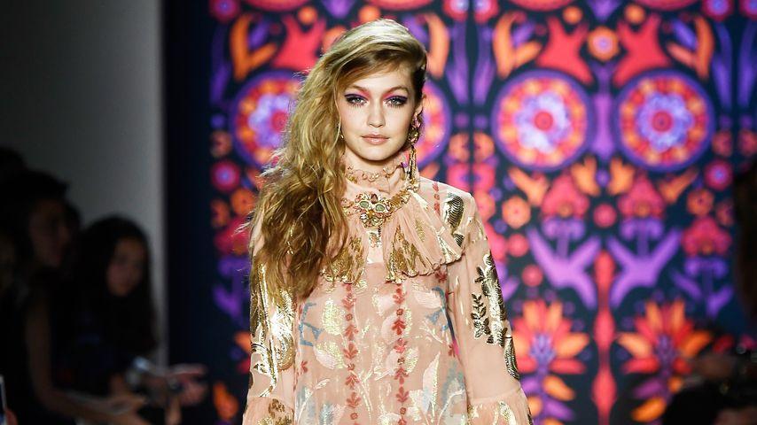 Gigi Hadid bei der Anna Sui-Show auf der NY Fashion Week 2018