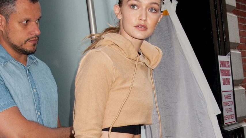Gigi Hadid nach einem Fotoshooting in New York