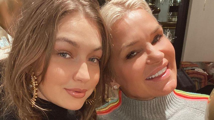 Gigi Hadid mit ihrer Mutter Yolanda