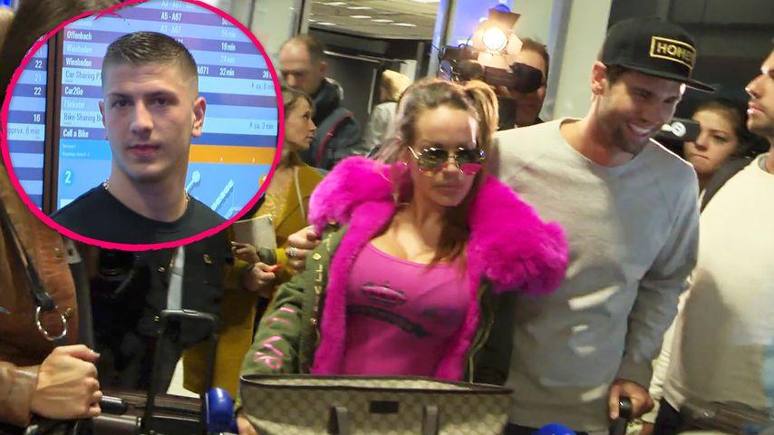 Gina-Lisa & Honey: Turtelei bei Ankunft & ihr Ex schaut zu!