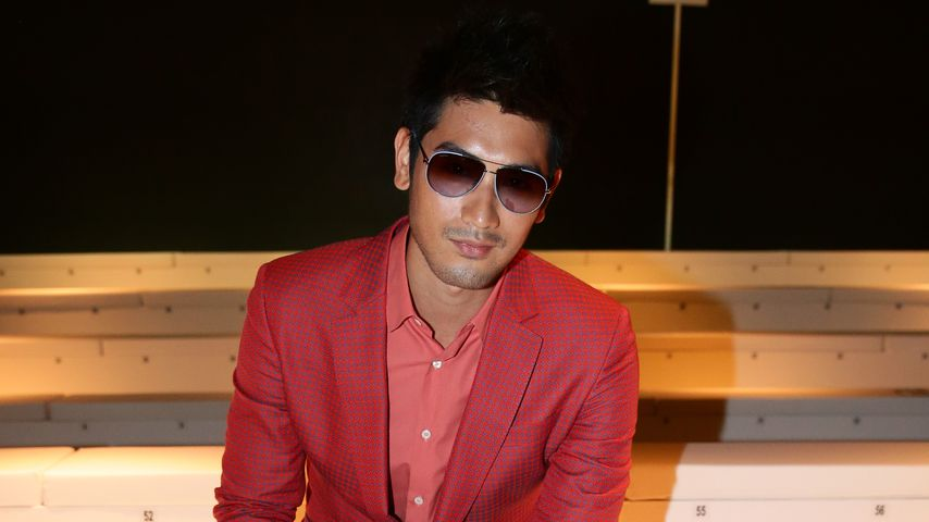 Godfrey Gao auf der Fashion Week in Mailand
