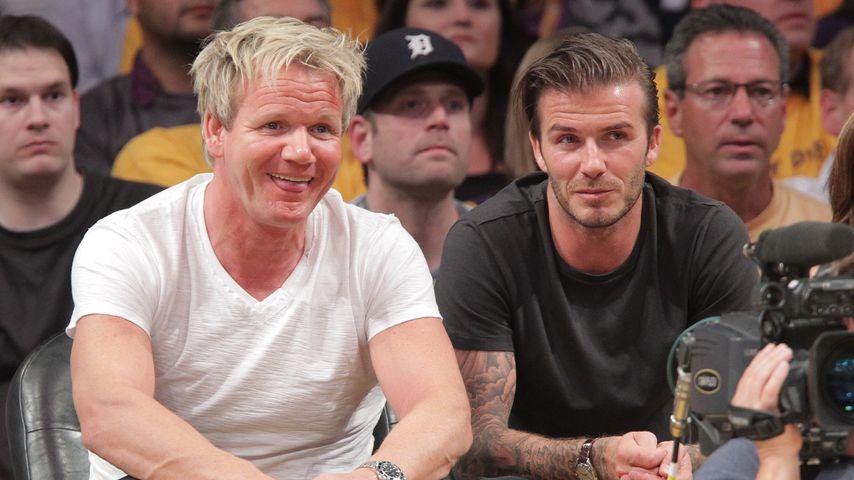 Gordon Ramsay und David Beckham im Mai 2011