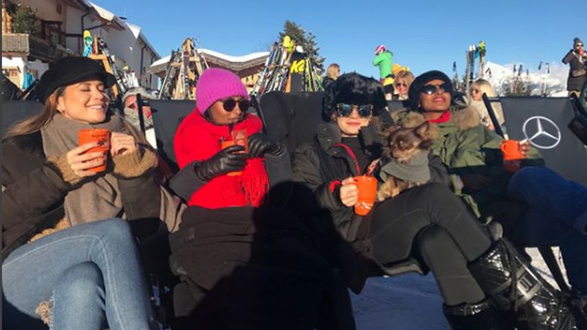Grace Capristo, Sali Nuru, Femme Schmidt und Sara Nuru im Winterurlaub 2017