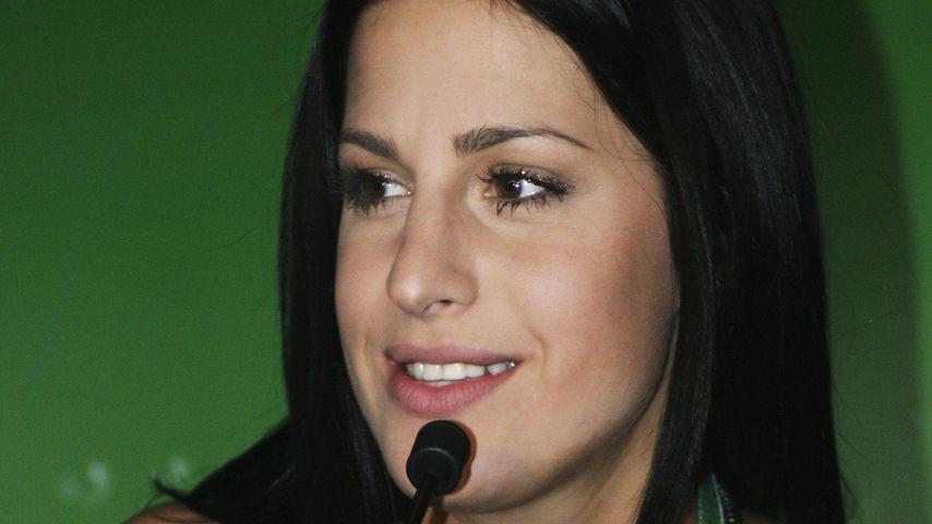"""Gracia Baur bei einer Pressekonferenz zum """"Eurovision Song Contest"""""""