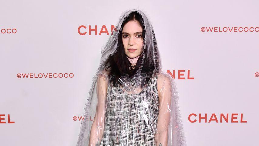 Grimes bei einer Chanel-Party, Februar 2018