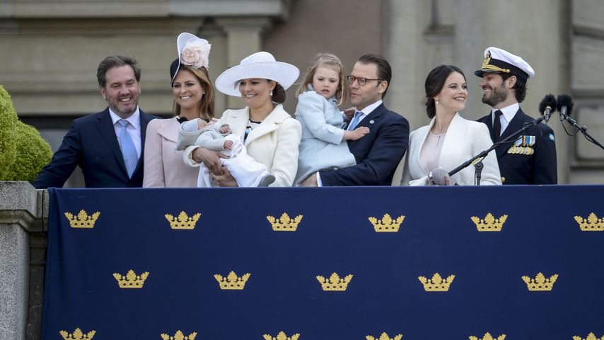 Gruppenfoto der schwedischen Royals bei der Geburtstagsfeier von König Carl Gustav
