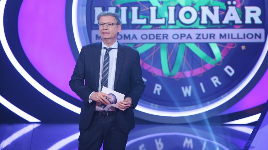 """Günther Jauch als Moderator bei """"Wer wird Millionär"""""""