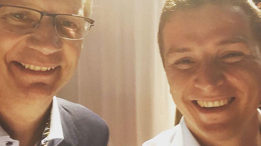 Günther Jauch und Aaron Troschke
