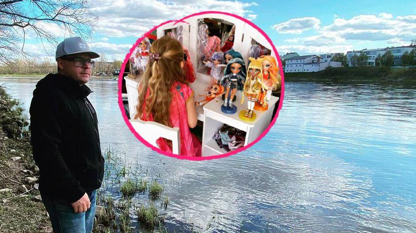 Selten: Tokio-Hotel-Drummer Gustav zeigt sein Töchterchen