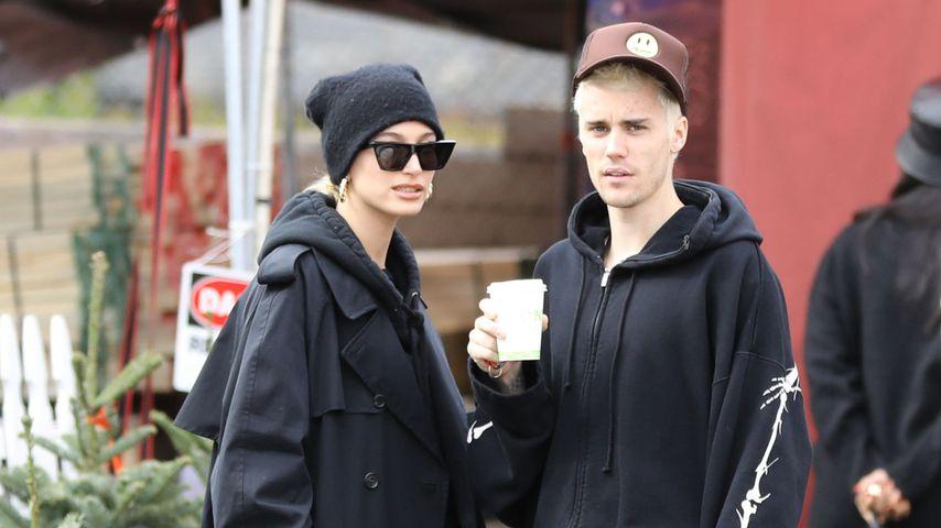 Hailey und Justin Bieber beim Weihnachtsbaumkauf, 2019