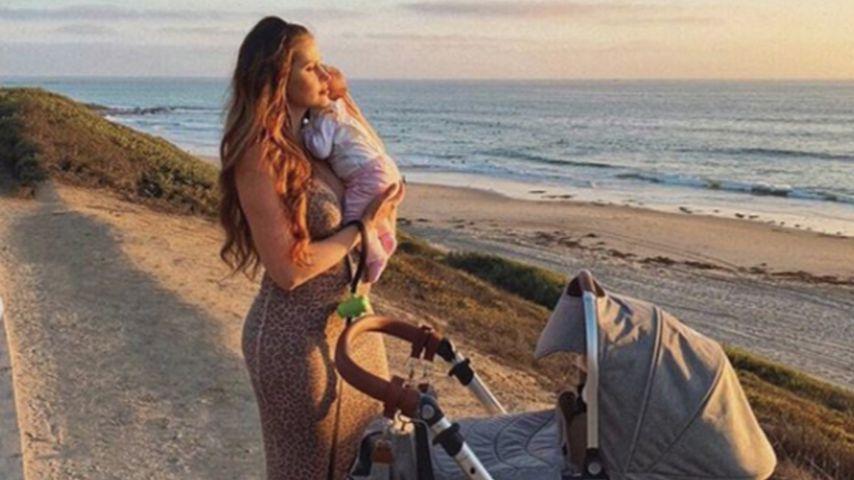 Hana Nitsche mit ihrer Tochter