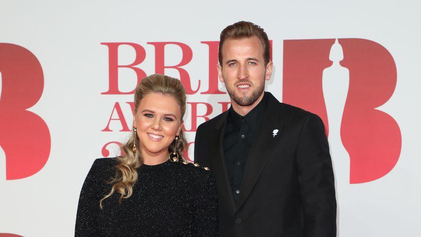 Harry Kane mit Katie Goodland bei den BRIT Awards 2018