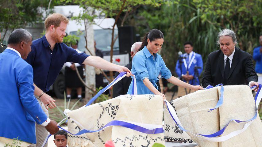 Prinz Harry und Herzogin Meghan am Tupou College in Tonga