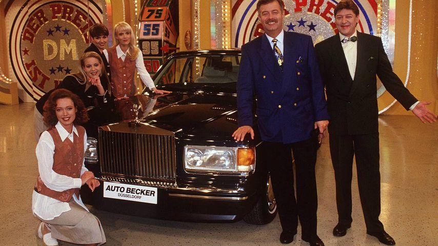 """Harry Wijnvoord und Walter Freiwald (rechts) bei """"Der Preis ist heiß"""", 1994"""