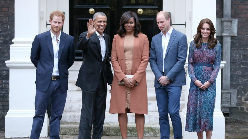 Prinz Harry, Prinz William, Barack Obama, Michelle Obama und Kate Middleton