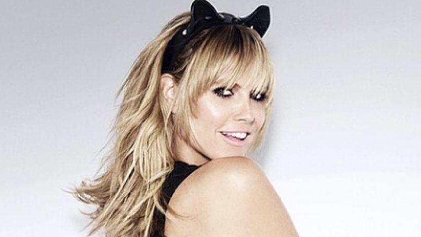 Miau: So sexy posierte Heidi Klum für John Rankin