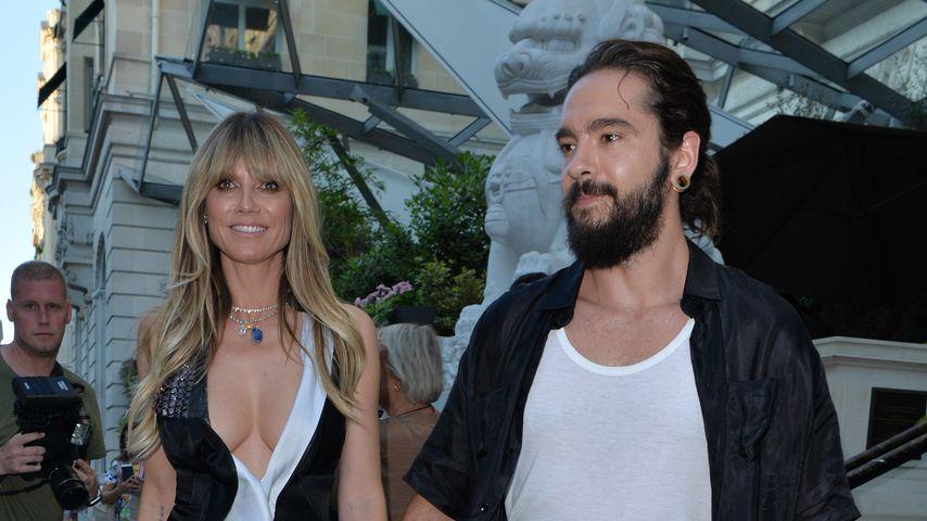 Heidi Klum und Tom Kaulitz während der Pariser Fashion Week