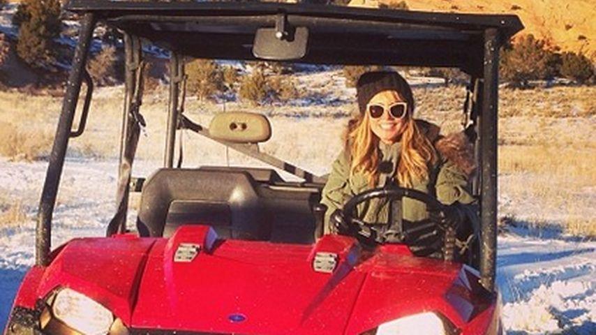 Heidi Klum: Rasante Quad-Tour durch den Schnee
