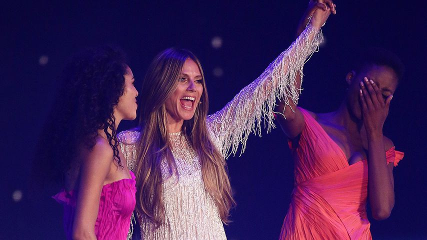 Julianna, Heidi Klum und Toni im GNTM-Finale