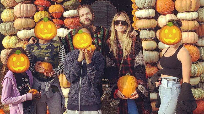 Heidi Klum mit ihren Kindern und Tom Kaulitz im Oktober 2018