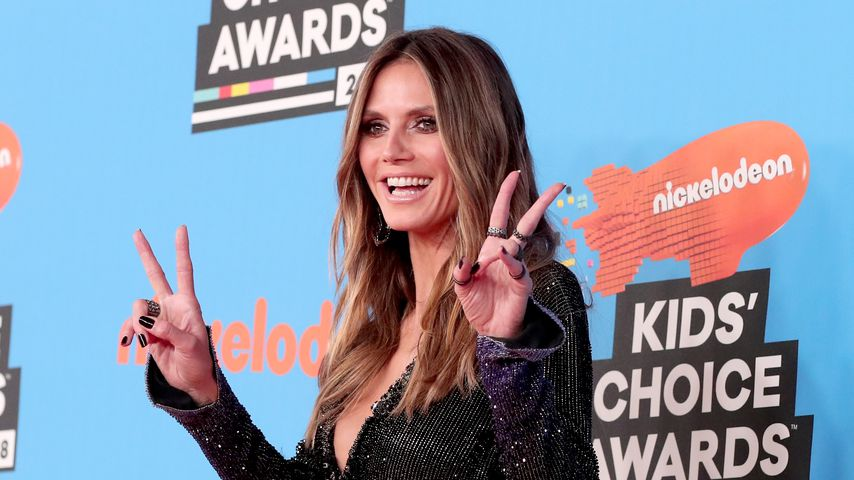 Model Heidi Klum auf dem Kid's Choice Award 2018